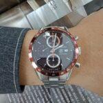 潤泰腕錶流當區 原裝 TAG Heuer 豪雅 CARRERA 計時 自動 男錶 9成5新 附盒 喜歡價可議 KR003